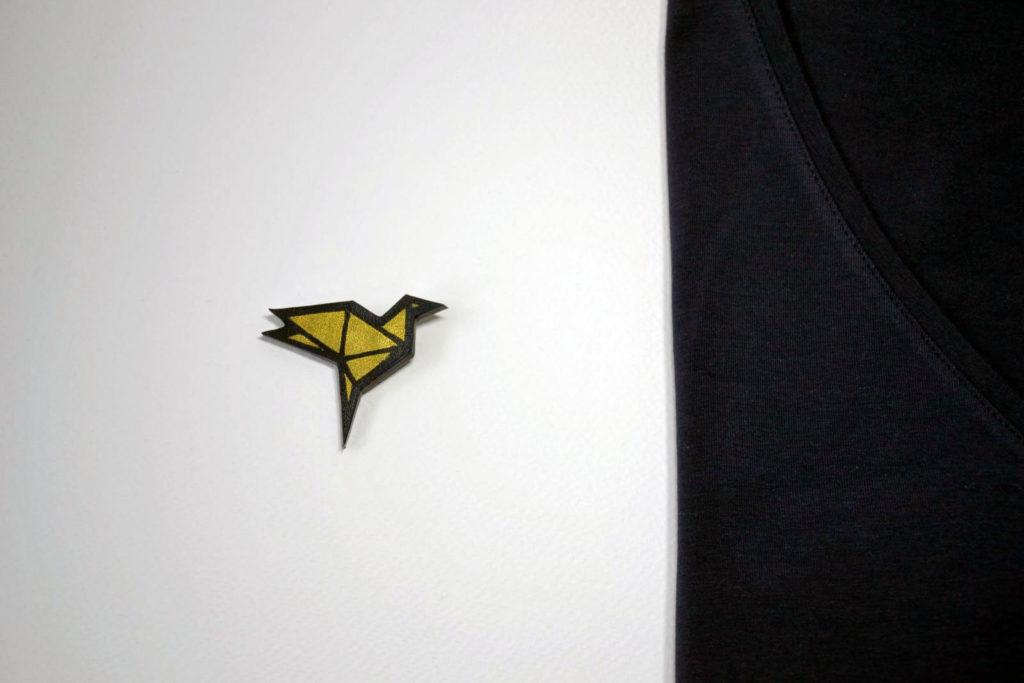 Broche origami Oiseau