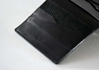 Porte-cartes Luce - Marquage cuir 2 - Atelier Luce