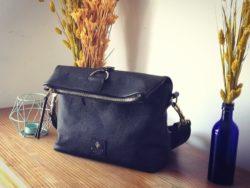 sac en cuir noir