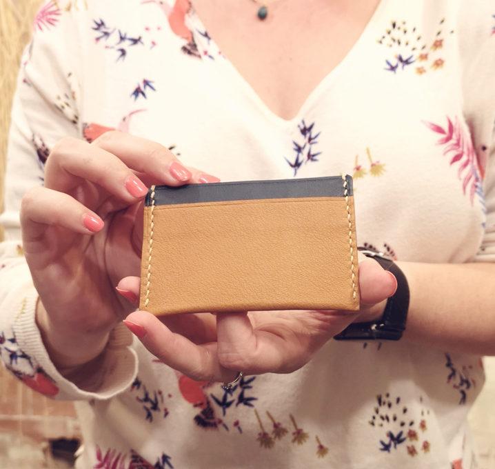 Atelier de maroquinerie - Porte-carte en cuir