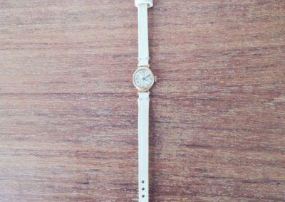 Bracelet montre femme cuir crème sur mesure
