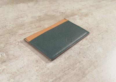 Porte-cartes homme cuir 3 emplacements - Vert anglais