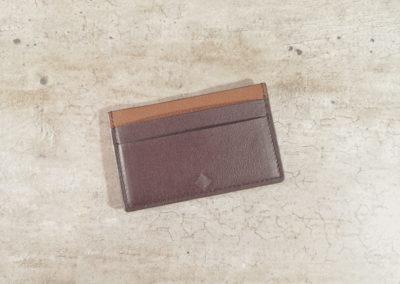 Porte-cartes homme cuir - 5 emplacements - Chocolat