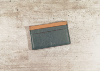 Porte-cartes homme cuir - 5 emplacements - Vert anglais